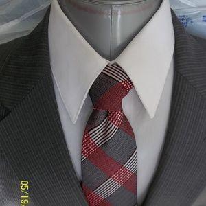 HHR4- Jos A Bank Gray Multi Stripe Suit